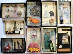 Art box:petit diorama réalisé dans une boîte par AtanMouala sur Etsy