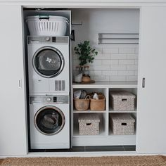 """Exceptional """"laundry room storage diy shelves"""" information is offered on our web pages. Check it out and you will not be sorry you did. room storage shelves 20 Brilliant Laundry Room Ideas for Small Spaces - Practical & Efficient Laundry Room Closet, Storage Room, Room Closet, Room Storage Diy, Laundry Cupboard, Utility Rooms"""