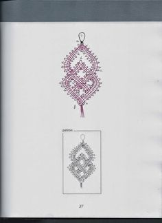 Boucle oreille Crochet Edging Patterns, Bobbin Lace Patterns, Lace Necklace, Lace Jewelry, Romanian Lace, Bobbin Lacemaking, Lace Heart, Lace Outfit, Needle Lace