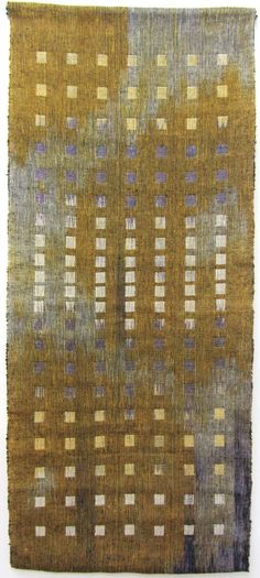 Marcia Weiss | Dialogue III | double cloth warp ikat | cotton + linen | Philadelphia, Pennsylvania, U.S.A.