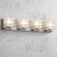 "Possini Euro Quilt 4-Light 27"" Wide Satin Nickel Bath Light - #6D542 | www.lampsplus.com"