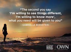 Life-illuminating advice from Gabrielle Bernstein