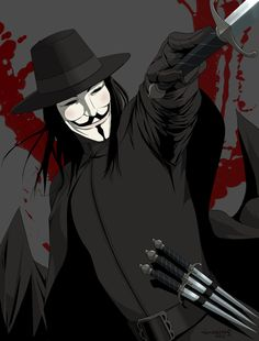 V For Vendetta // artwork by *doubleleaf V Pour Vendetta, The Fifth Of November, Chibi, Comic Art, Comic Books, Hacker Wallpaper, Street Art, Dc Comics Heroes, Comic Book Collection