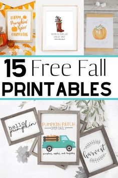 Sep 20, 2019 - Free fall printables to make fall decorating on a budget easy! These autumn printables are beautiful - vintage, rustic farmhouse, watercolor, and more! Rustic Fall Decor, Fall Home Decor, Decorating On A Budget, Fall Decorating, Decorating Coffee Tables, Diy Home, Fall Diy, Happy Fall, Fall Crafts
