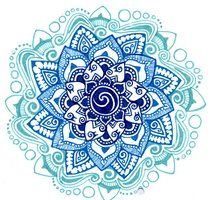 blue shades mandala by ~yael360 on deviantART