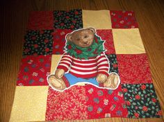 Bear Table Runner Or Wall Hanging by CraftsAndFinds on Etsy, $7.00
