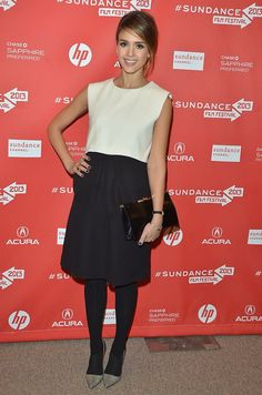 "Actress Jessica Alba attends the ""A.C.O.D"" Premiere #SUNDANCE #STYLAMERICAN"
