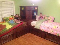 Boy room ideas by truesaphira on pinterest corner beds for Bedroom ideas for siblings sharing