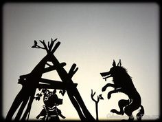 Three Little Pigs: Shadow Puppetry with Printables - In The Playroom