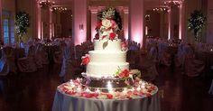 Amazing #wedding #cake brilliantly accent with #uplighting  #cakespotlight! Photo via #BlueEdgeWeddings
