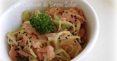 cogumelo salmão, alho poró, oriental
