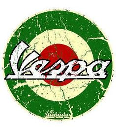 awesome Vespa Green Roundel Sticker