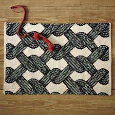 Aran Printed Floor Mat | west elm