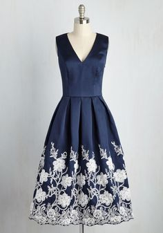 Here Comes the Stride Dress in Midnight, @ModCloth