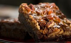 Photo about Chocolate brownies with caramel, nuts, and chocolate chunks. Image of square, cake, dessert - 8146762 Turtle Cookie Bars, Turtle Brownies, Turtle Cookies, Coffee Brownies, Chocolate Brownies, Chocolate Chips, Honey Chocolate, Caramel Brownies, Chocolate Morsels