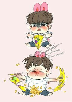 Omg......hehehehehe! THAT'S ONE OF THE CUTEST LIL DRAWINGS IVE EVER SEEN!!!  ♡/////♡  BTS || Jungkook Fanart