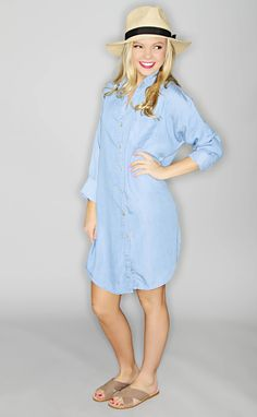 here comes the sun chambray tunic--Get 15% off + Free Shipping on ShopRiffraff.com when you use code 'RiffraffRepLauren' at checkout.
