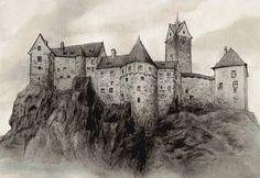 Предпросмотр схемы вышивки «Замок акварель»