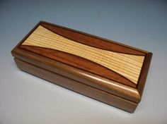 Collection Box, Walnut Home Decor Box, Handmade Wood Box, Wood Inlayed Box, Wedding Gift Box, Accessories Box, Wooden Keepsake Box, Gift. [Pretty box but the open top shows it to be inlay. Some other nice boxes on the click-through]