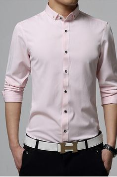 0c7a634bb29 Crystal collar buttons design Men Shirt Sale. Business Casual Style Men  Shirts on sale.