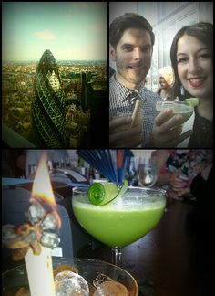 Cocktails and sushi with an amazing view at sushi samba