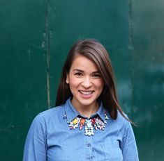 """Khoollect Editor-in-Chief Rachel Khoo is daring in her fashion choices, and insists """"don't be afraid to double-up on denim"""". Rachel Khoo, Double Denim, Colorful Fashion, Mix Match, Work Wear, Looks Great, Fashion Beauty, Style Inspiration, Female"""