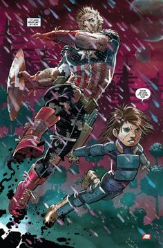"""Captain America & Son"", by John Romita Jr"