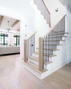 House Staircase, Staircase Remodel, Staircase Makeover, Modern Staircase, Staircases, Entryway Stairs, Home Stairs Design, House Design, Interior Stair Railing