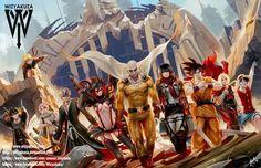We need a mavel/dc vs manga universes thing to happen.
