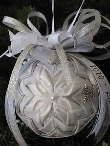 Pretty Quilted Snowflake/ Wedding Christmas Ornament