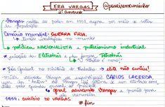 """119 curtidas, 9 comentários - Resumos, ETEC, ENEM e estudos (@passeisemcursinho) no Instagram: """"Resumo sobre o segundo governo de GETÚLIO VARGAS #passeisemcursinho"""""""