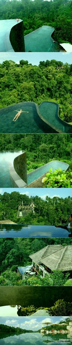 Ubud Hanging Garden Resort Bali. - kind of scares me little... but i'd risk it! :o)