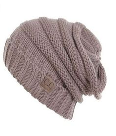 Unisex Soft Stretch Oversized Knit Slouchy Beanie (Taupe) – Niobe Clothing