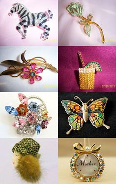 PIN-Tastic Brooches  by Linda on Etsy--Pinned with TreasuryPin.com
