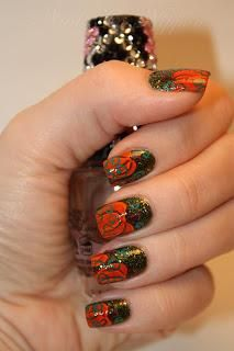 DIY halloween nails: DIY Halloween nail art : DIY  Halloween/Fall Pumpkins