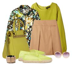 """Casual outfit: Lime - Light Brown - Floral"" by downtownblues on Polyvore"