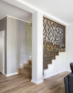 Home Stairs Design, Home Room Design, Small House Design, Modern House Design, Door Design, Home Interior Design, Living Room Designs, Interior Decorating, Modern Stairs Design