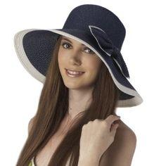 Luxury Lane Women's Navy Ribbon Sun Hat..........looks like a new hat for Red