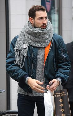 That scarf. London Street Style FashionPhotos by Zoe. (I think he should cut that TAG off)