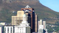 Cape Town's skyline as viewed from the harbour, with the Cullinan Hotel in the foreground. http://www.southafrica.to/accommodation/Cape-Town/Cape-Town-hotels.php5