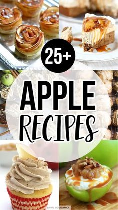 These 25 Delicious Apple Recipes are perfect for fall and the holiday season. Whether you want to make dinner from scratch or getting an easy start with pre-made pieces, I've found some awesome recipe for you from some of my favorite blogger chefs and moms. Get ready to satisfy your apple cravings with these awesome apple recipes. Easy Cupcake Recipes, Best Dessert Recipes, Appetizer Recipes, Delicious Desserts, Yummy Food, Cookbook Recipes, Yummy Recipes, Healthy Recipes, Best Apple Desserts