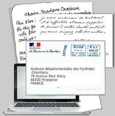 Modelos de cartas en francés -   Aquí encontrarás modelos de carta en idioma francés para que puedas escribir a los archivos y comunas de Francia solicitando información y/o documentación de tus ancestros.