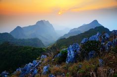 Doi Luang Chiang Dao...... Doi Luang Chiang Dao is a limestone mountain in the Chiang Dao Wildlife Reserve area, Amphoe Chiang Dao. This cone-shaped mountain is 2,195 metres from sea level, which makes it the third highest mountain in Thailand after Doi Inthanon and Doi Pha Hom Pok.