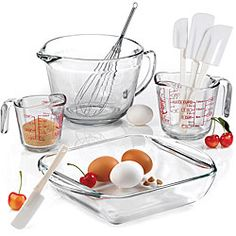 @Overstock - Prepare your favorite meals with an Anchor Hocking glass set. The bakeware set comes complete with kitchen gadgets.http://www.overstock.com/Home-Garden/Anchor-Hocking-9-piece-Mix-Measure-Baking-Set/4231632/product.html?CID=214117 $43.99