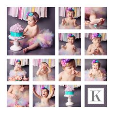 Super cute baby birthday photo.