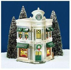 "Dept 56 Snow Village ""Starbucks Coffee Shop"" 5485 9 | eBay"
