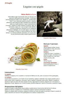 """La Ricetta di oggi 10 Luglio dall'archivio di Ricette 3.0 di spaghettitaliani.com - Linguine con spigola ( Primi - Pastasciutte ) inserita da Heinz Beck - La ricetta si trova anche nel Libro """"Una Ricetta al Giorno... ...leva il medico di torno"""" prodotto dall'Associazione Spaghettitaliani, per acquistarlo: http://www.spaghettitaliani.com/Ricette2013/PrenotaLibro.php"""