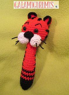 Patrón Sonajero Tigre Papaya- Patron Gratis