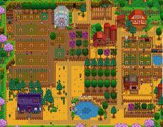 My Stardew Valley farm at the beginning of Spring, Year 4   RedLace (@RedLaceGaming)    #StardewValley #videogames