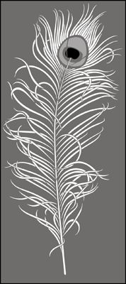 Peacock Feather No 1 stencil from The Stencil Library CONTEMPORARY range. Buy stencils online. Stencil code CO19.